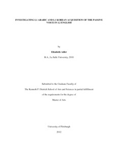 thesis in english grammar