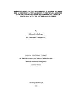 Bipolar disorder thesis
