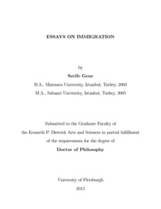 Exploratory essay about immigration