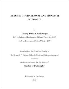 MSc International Business Economics Faculty of Economics