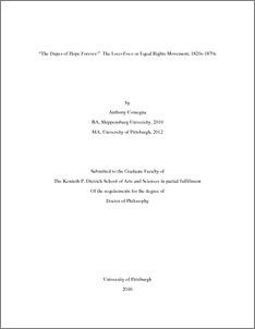 Dissertation equal rights
