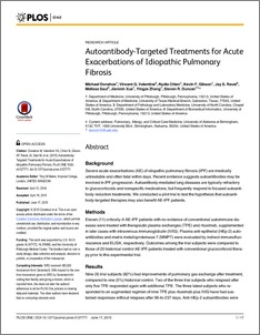 Autoantibody-targeted treatments for acute exacerbations of