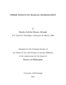 three essays on illegal immigration d scholarship pitt three essays on illegal immigration
