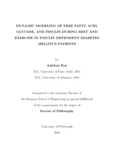 Dynamic Modeling of Free Fatty Acid, Glucose, and Insulin