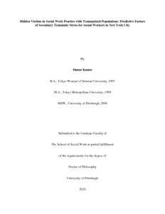 Social work dissertation archive